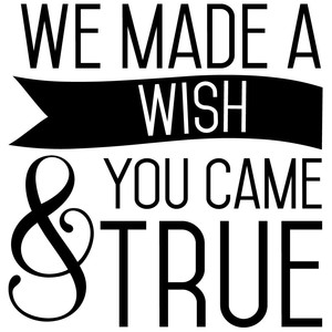 we made a wish & you came true quote