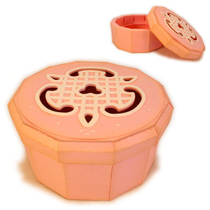 round 3d box icing cutout lid