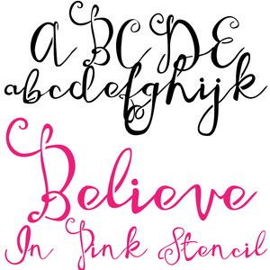 zp believe in pink stencil