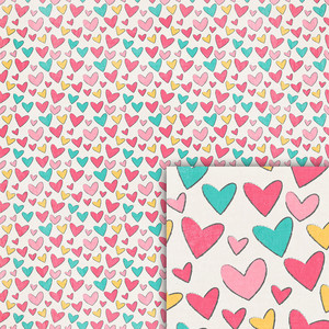 hearts background paper