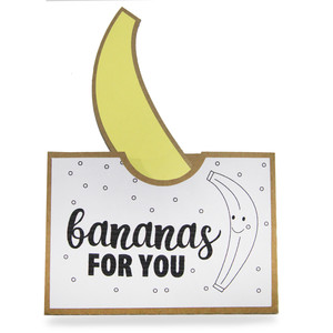 pocket coloring card - i'm bananas for you