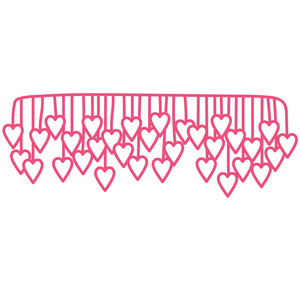 dangling hearts border
