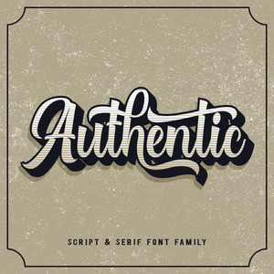 authentic font duo