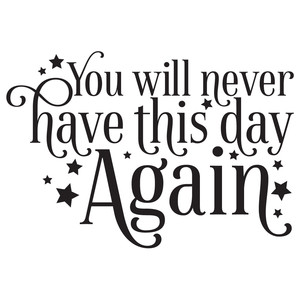 you will never have this day again quote
