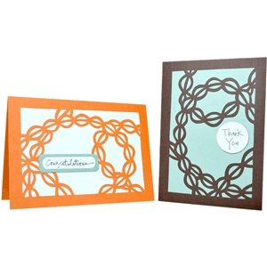 winding leaves folded note card