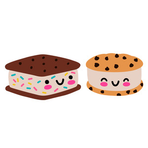 kawaii ice cream sandwiches