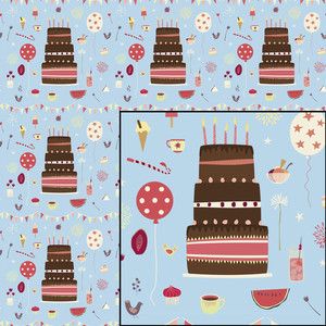 birthday party repeat pattern