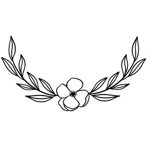 laurel wreath flowers leaves