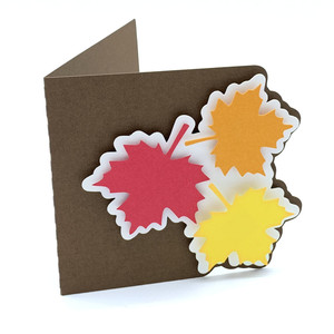 autumn leaves folded card
