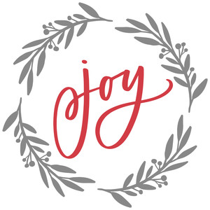 joy wreath frame