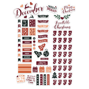 december christmas planner stickers
