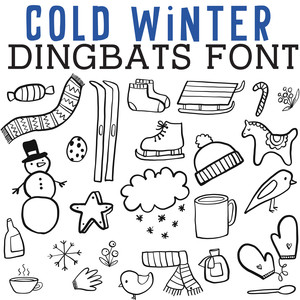 cg cold winter dingbats