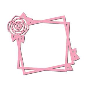 rose outline square frame