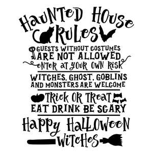 haunted house rules
