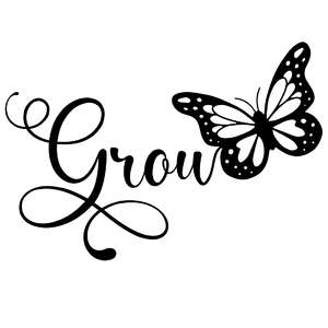 grow butterfly word