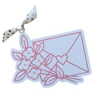 love letter floral gift tag
