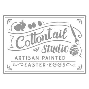 cottontail easter egg painting