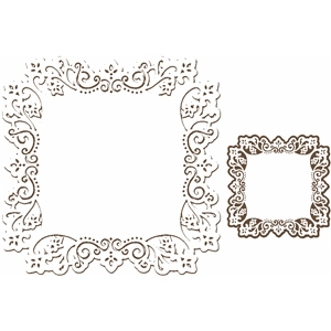 lace edge square part 1