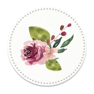 watercolor floral tag two