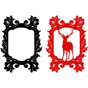 christmas damask frame