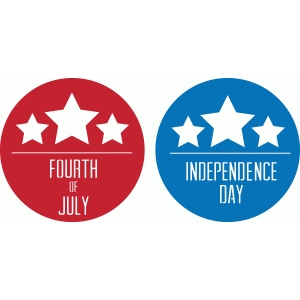 fourth of july badges