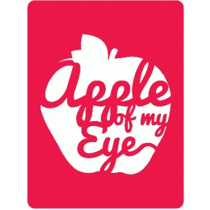 apple of my eye journaling card