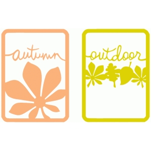 autumn - outdoor cards