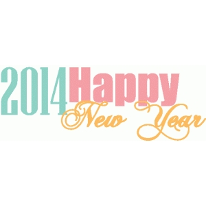 2014 happy new year title