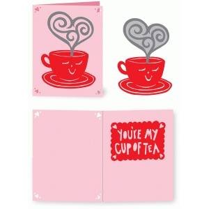 you're my cup of tea valentine card
