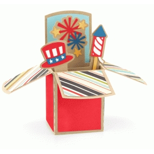 patriotic 4th of july box card