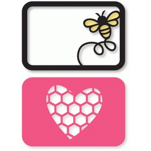 honeycomb heart & flying bee cards