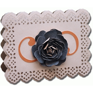 3d doily flower a2 card