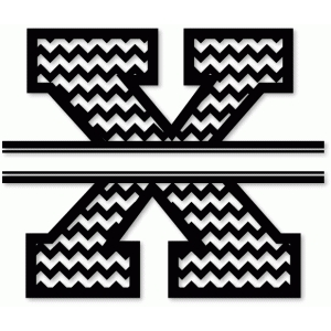 chevron split monogram x
