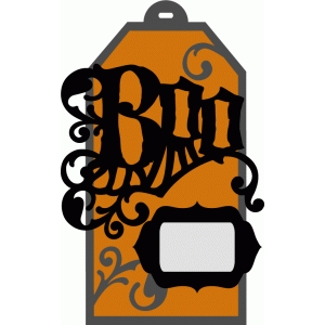 layered halloween tag kit - boo