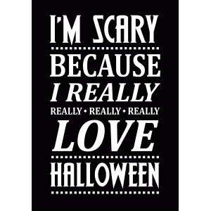 really love halloween - scary