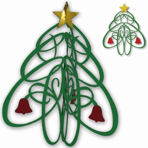 flourished christmas tree decoration