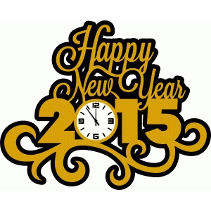 happy new year 2015 damask