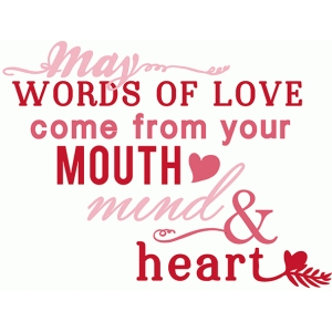 words of love phrase