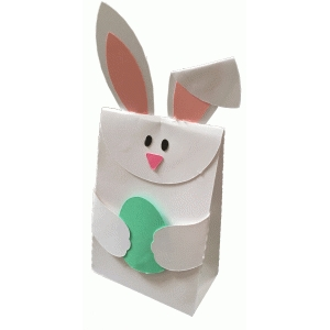 bunny fold over bag