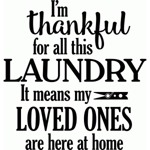 thankful for laundry