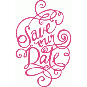save our date hand written