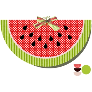 watermelon shape card