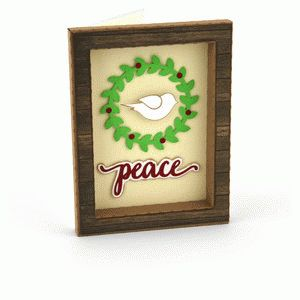 3d frame card peace dove