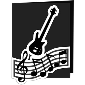 bass guitar card