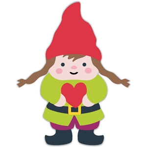 animal woodland girl gnome