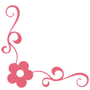 simple flower corner flourish a