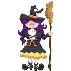 candy corn witch