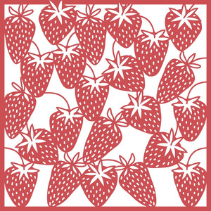 strawberry 12x12 page, background or stencil