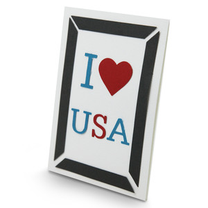 i heart the usa in a frame