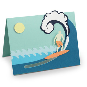 surfing motion card